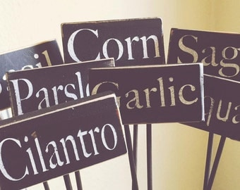 Rustic Garden Markers - Set of 5