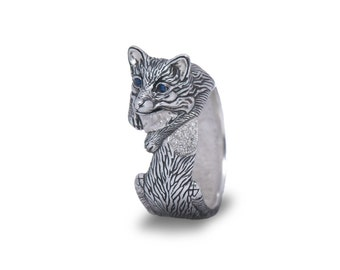 Fox ring (female), Fox Jewelry / Solid sterling silver (silver 925)