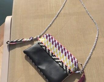 Handbag with removable handle ethnic shoulder bag