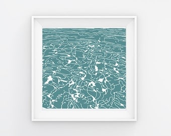Abstract water print