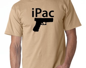 iPac Logo T Shirt Pistol 2nd Amendment Pro Gun Rights Concealed Carry Pack New Weapons Rifle Pisol Right To Bare Arms Tee T-Shirt New
