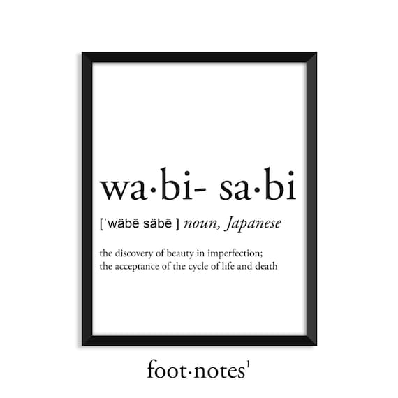 Wabi Sabi Definition Dictionary Art Print College Dorm