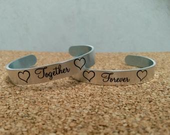 Couple's Wedding Bracelets (1 pair)