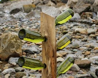 Handmade Rustic Driftwood Wine Rack