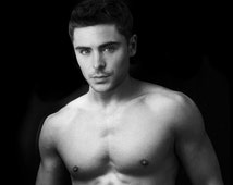 NSFW - Zac Efron - Pin the Junk on the Hunk - Bachelorette Birthday Divorce Party Game