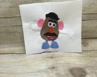 Mr. Potato Head Embroidery Design
