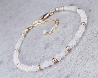 Moonstone Bracelet/Moonstone Gemstone Bracelet/June Birthstone/Moonstone jewelery/wedding jewelery
