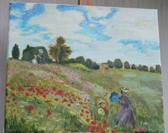 Picture Field of Poppies at Argenteuil