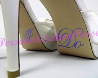 I Do Shoe Stickers - Royal Blue Glitter