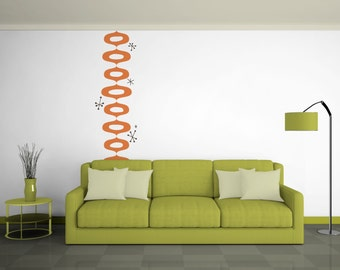 Retro Pattern Wall Decal Graphic