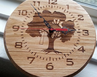 10 Inch Handmade Tree Clock