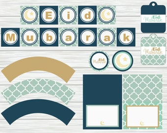 Minty Blue Eid Bundle - Printable