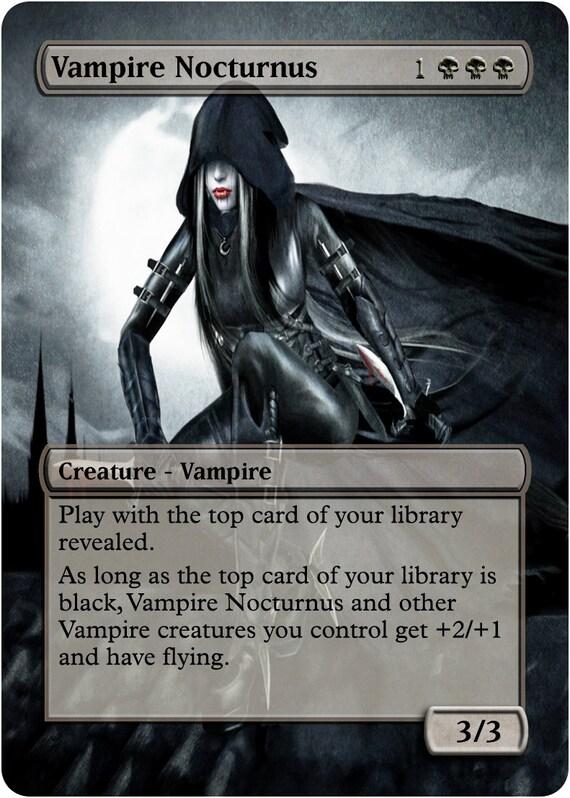 vampire nocturnus custom art foil or non foil by