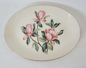 Homer Laughlin Rhythm Pink Magnolia Vintage China Platter