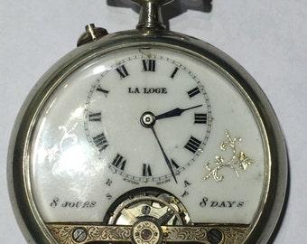 Hebdoma's style La Loge Pocket Watch
