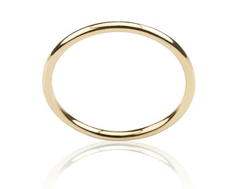 Gold wedding band, Marriage ring, Gold stacking ring, Skinny gold ring, Simple gold ring, Tiny ring, Gold band ring