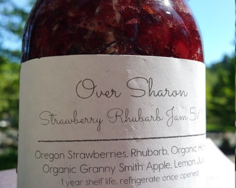 Oregon Strawberry Rhubarb Jam - 16oz