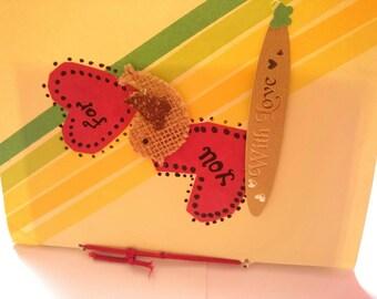 Handmade card with love
