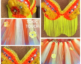 Glam Rave Outfit - Premade 38C Bra and Tutu