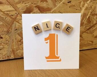 Nice 1 Scrabble Card