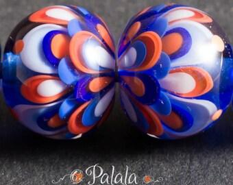 Pair of Lampwork Glass Beads for earrings