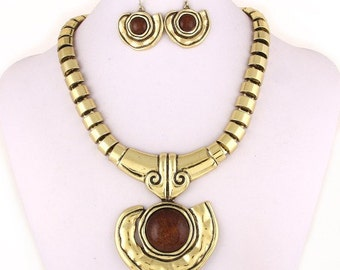 Bronze/Brown Elegant Jewelry Set