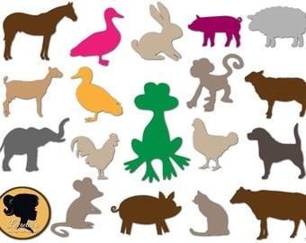Animals Svg, Animals Design Silhouette, cutting file, Animals Svg, Cricut Files Silhouette, vinyl,  clipart, svg files