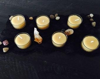 Beeswax Candles, Tea Lights Set of 6