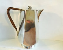 Mappin and Webb chocolate/coffee pot with cane handle