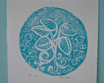 Plant Print, Relief Printmaking, Foam Print, Variable Edition