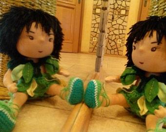 "Wild waldorf doll Mowgli(SALE 50% ) 14,5""(35 sm)"