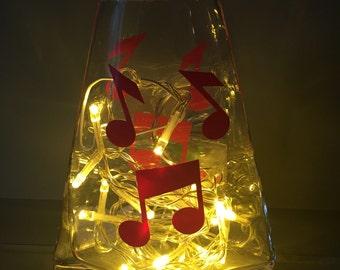 Glass handmade lamp