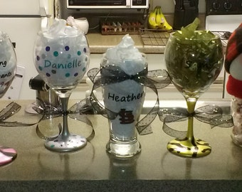 Custom wine or beer glasses
