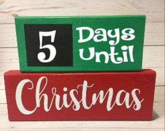 Christmas Countdown Chalkboard Blocks