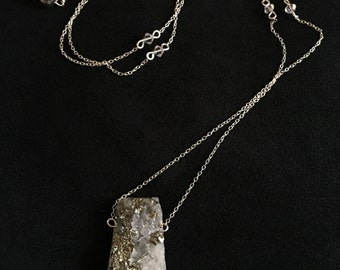 pyrite chunk necklace (sterling silver version)