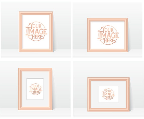 rose gold frame mock ups simple blank empty frames blank frame mockups digital