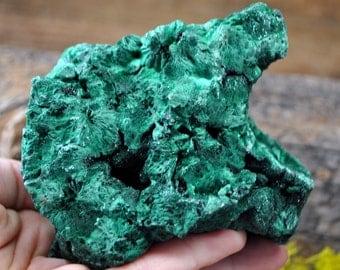 Fibrous Green Malachite Crystal Specimen   - 1234.42