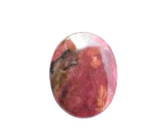 37 x 28,5 x 5 mm  Rhodonite natural stone cabochon