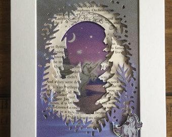 Fairy tale inspired art. Shimmering Unicorn