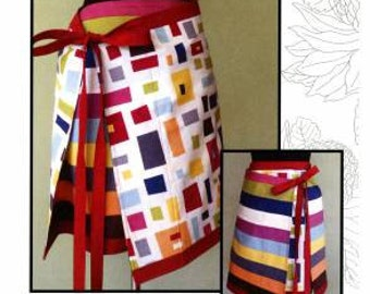Modern apron skirt pattern byLeesa Chandler Designs, save 15% on patterns when you buy 3 or more