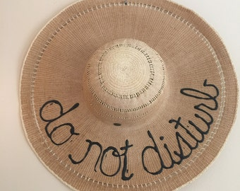 DO NOT DISTURB wide brim sun hat