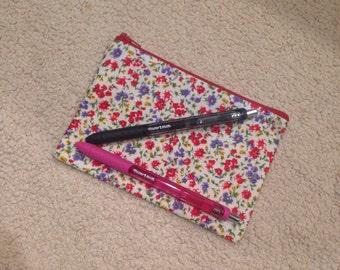 Floral purse pouch