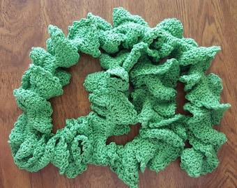 Green Apple Crochet Scarf