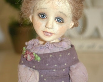 "Art Doll OOAK Sabina 14"" by Olga Schlegel"