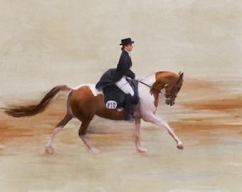 Custom Horse Digital Painting   Watercolor Print