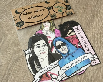 STICKERS: Mean Girls 15 Stickers Pack! Hand Drawn Paper Sticker Set, Laptop Stickers, Phone Stickers, Stationery Gift, Mean Girls Quotes!