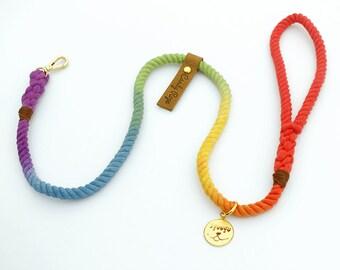 Rope Dog Leash,rainbow ombre Pet Leash