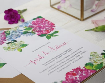 Stationery Wedding suite - Printable- Invitations, RSVP, HYDRANGEA