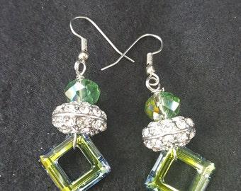 Swarovski cosmic rings earrings