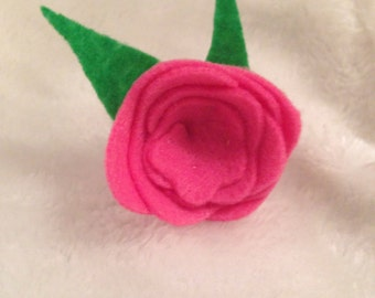 Pink Rose Hair Accessory